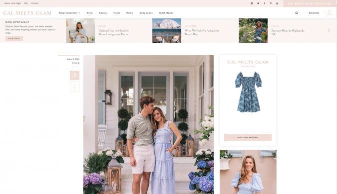 Gal-Meets-Glam-website-screenshot-675x390 Best 50 Lifestyle Blogs and Websites to Follow in 2019