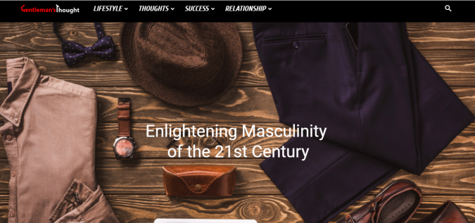 Gentlemans-Thought-website-screenshot-675x317 Best 50 Lifestyle Blogs and Websites to Follow in 2019