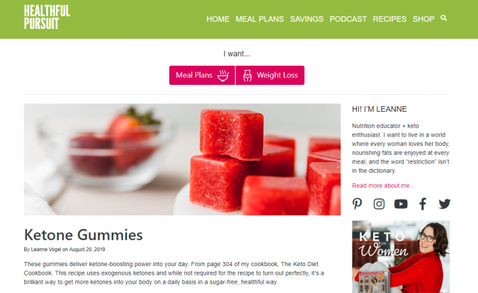 Healthful-pursuit-blog-screenshot-675x414 Best 40 Keto Diet Blogs and Websites in 2019