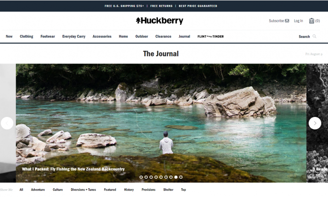 Huckberry-website-screenshot-675x406 Best 50 Lifestyle Blogs and Websites to Follow in 2019