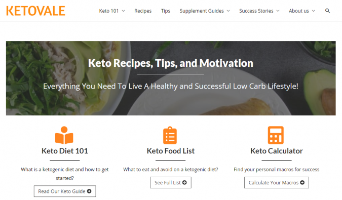 Keto-Vale-blog-screenshot-675x395 Best 40 Keto Diet Blogs and Websites in 2020