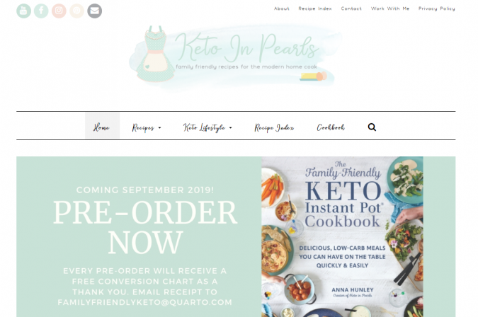 Keto-in-Pearls-blog-screenshot-675x448 Best 40 Keto Diet Blogs and Websites in 2019
