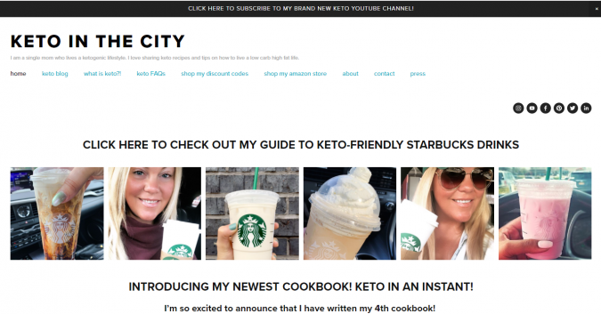 Keto-in-the-city-blog-screenshot-675x353 Best 40 Keto Diet Blogs and Websites in 2020