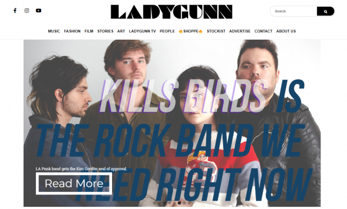 Ladygunn-website-screenshot-675x406 Best 50 Lifestyle Blogs and Websites to Follow in 2020