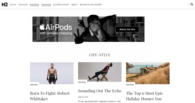 M2-magazine-website-screenshot-675x356 Best 50 Lifestyle Blogs and Websites to Follow in 2019