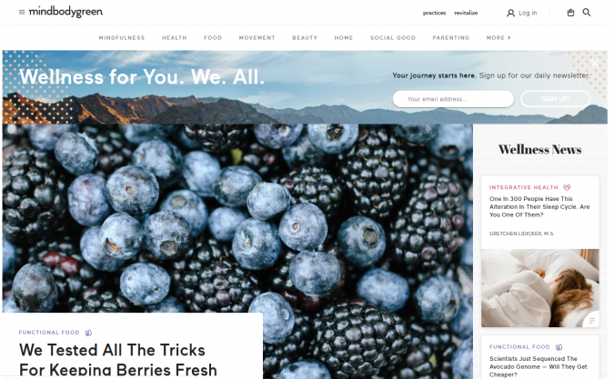 Mind-Body-Green-website-screenshot-675x417 Best 50 Lifestyle Blogs and Websites to Follow in 2020