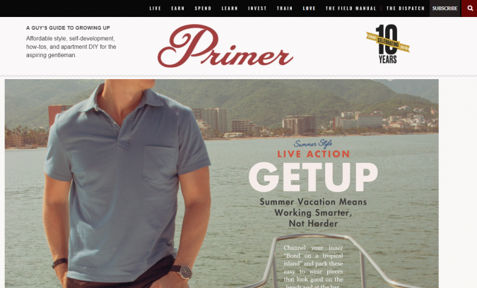 Primer-website-screenshot-675x408 Best 50 Lifestyle Blogs and Websites to Follow in 2019