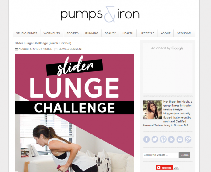 Pumps-and-Iron-website-screenshot-675x550 Best 50 Lifestyle Blogs and Websites to Follow in 2019
