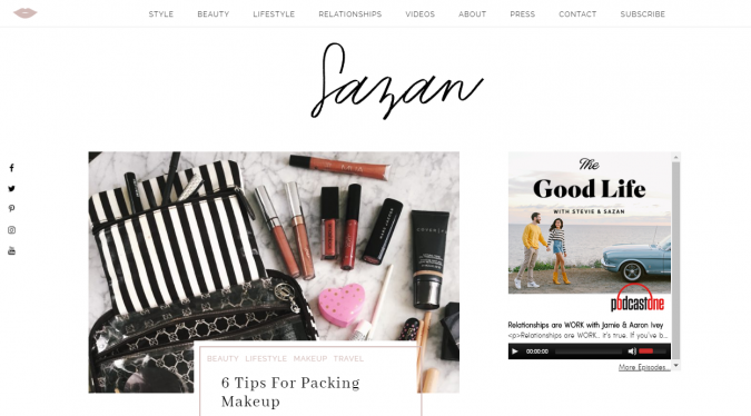 Sazan-website-screen-shot-675x374 Best 50 Lifestyle Blogs and Websites to Follow in 2019