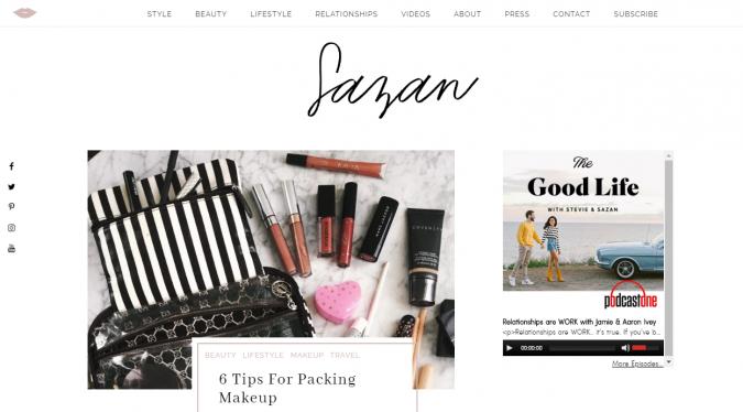 Sazan-website-screen-shot-675x374 Best 50 Lifestyle Blogs and Websites to Follow in 2020