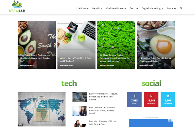 StemJar-website-screenshot-675x439 Best 50 Lifestyle Blogs and Websites to Follow in 2020