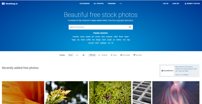 StockSnap.io-stock-image-website-screenshot-675x349 Best 50 Free Stock Photos Websites in 2019
