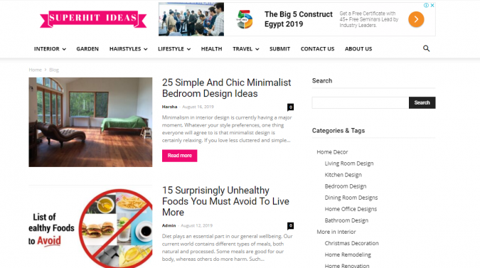 SuperHit-Ideas-website-screenshot-675x377 Best 50 Lifestyle Blogs and Websites to Follow in 2020