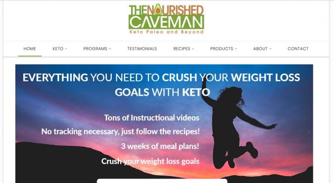 The-Nourished-Caveman-blog-screenshot-675x371 Best 40 Keto Diet Blogs and Websites in 2019