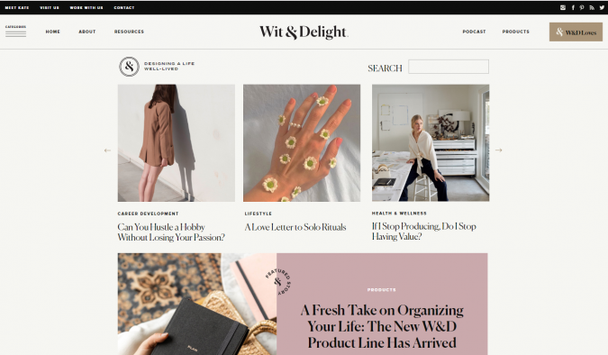 Wit-Delight-website-screenshot-675x394 Best 50 Lifestyle Blogs and Websites to Follow in 2019