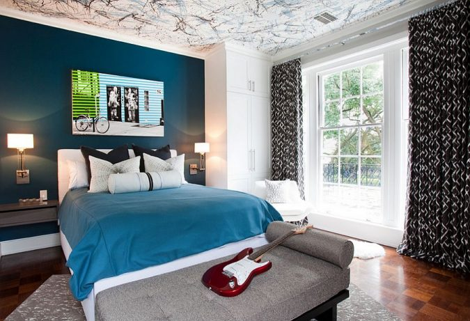 home-decor-bedroom-painted-ceiling-675x461 9 Important Things to Remember When Decorating Your Bedroom