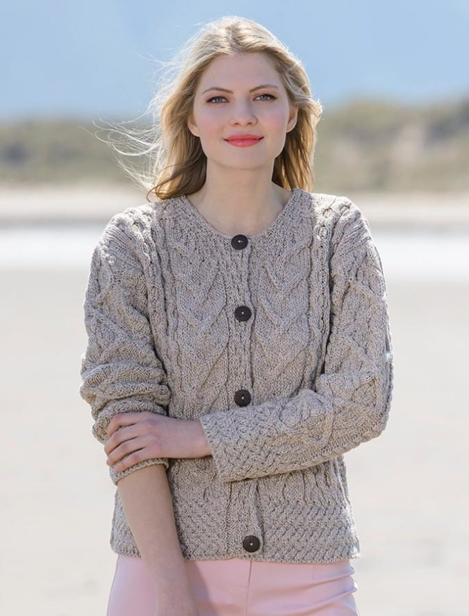 Aran-Cable-Knit-Cardigan-675x887 Embrace the Autumn with Aran Sweaters and Irish Knits