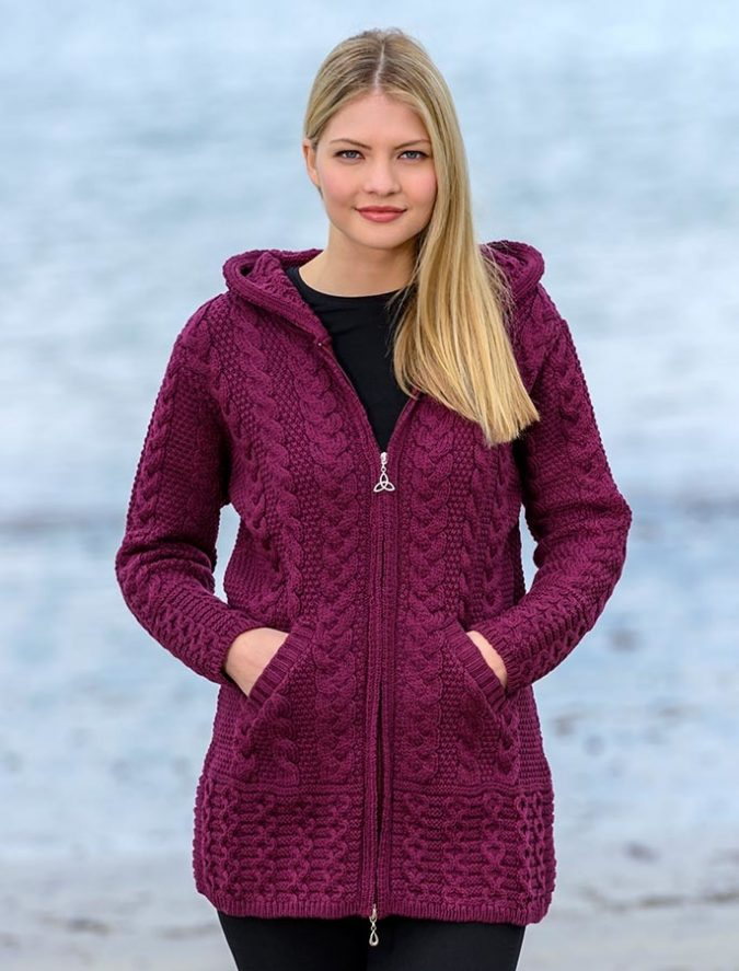 Aran-HOODED-COATIGAN-675x887 Embrace the Autumn with Aran Sweaters and Irish Knits