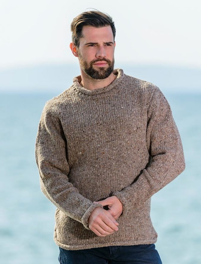 Aran-Roll-Neck-Fisherman-Sweater-675x887 Embrace the Autumn with Aran Sweaters and Irish Knits