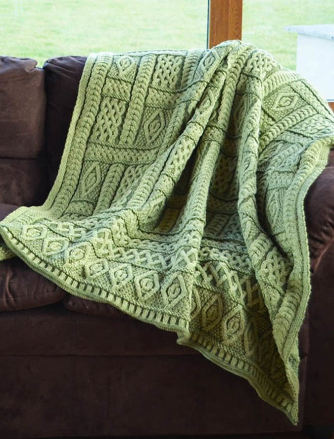 Aran-knitted-throw-675x887 Embrace the Autumn with Aran Sweaters and Irish Knits