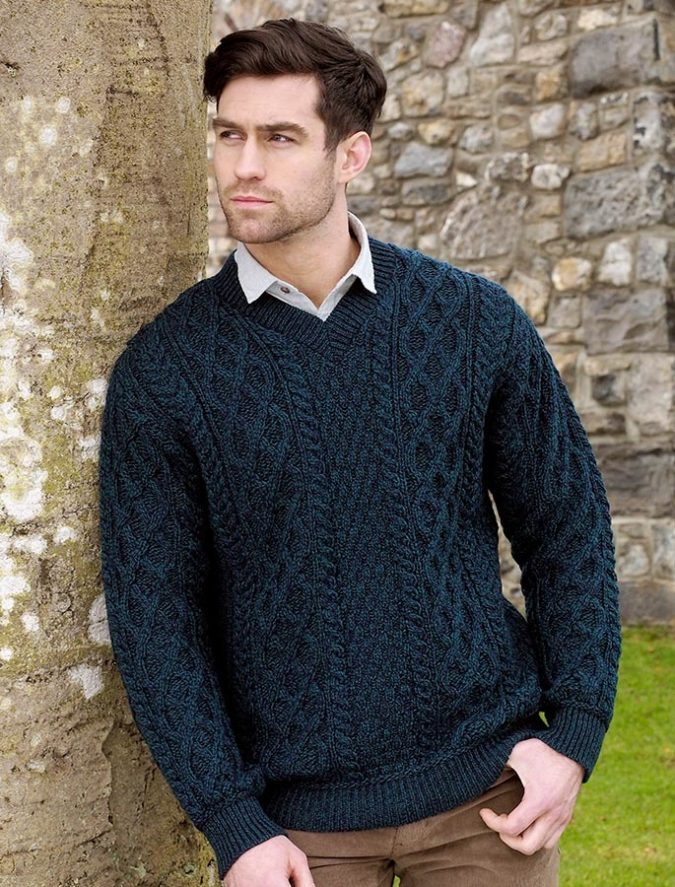 Aran-sweater-men-675x887 Embrace the Autumn with Aran Sweaters and Irish Knits