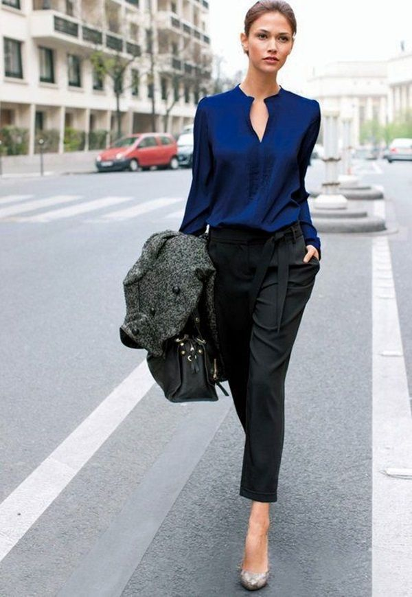 Black-Trousers-outfit 20 Must-Have Wardrobe Pieces Every Woman Over 40 Needs