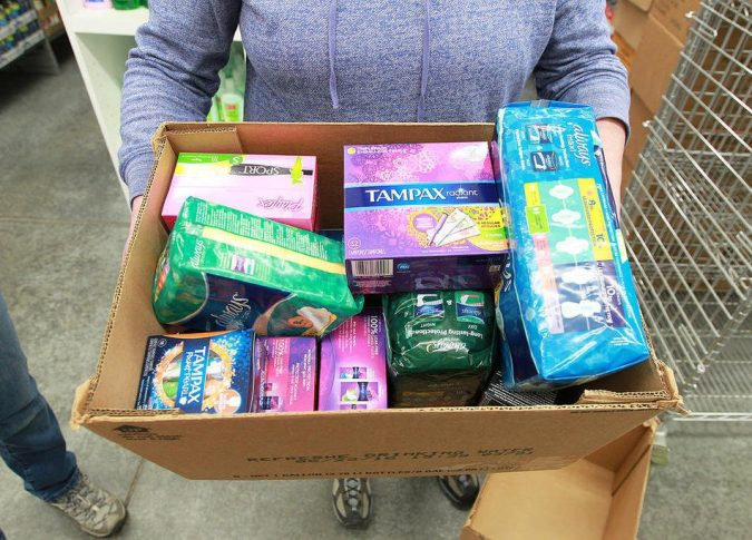 Feminine-Products-675x485 6 Items Around the House that You Can Donate to Charity