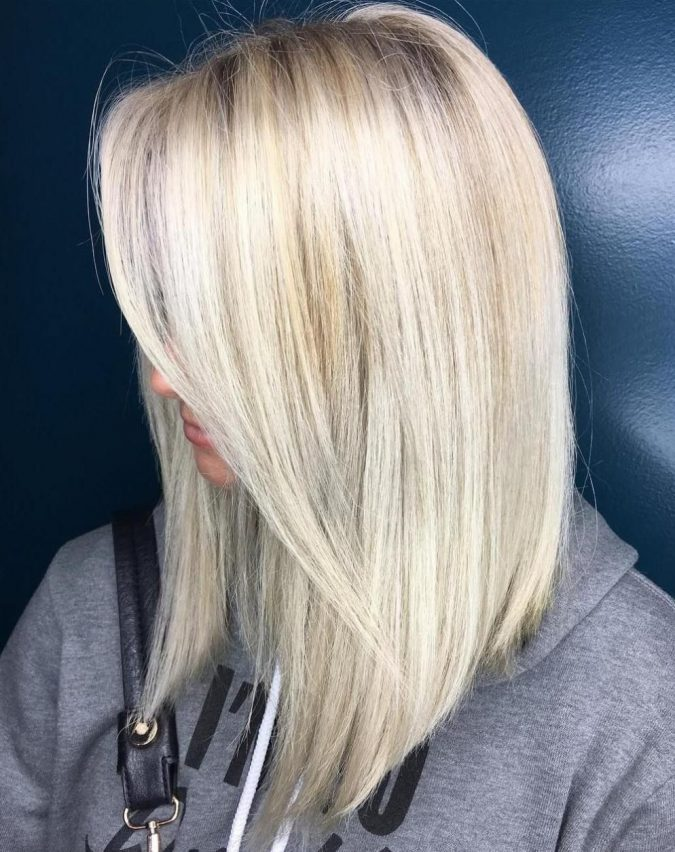 Mid-Length-Blonde-Haircut-675x852 Completely Fashionable Medium Length Hairstyles