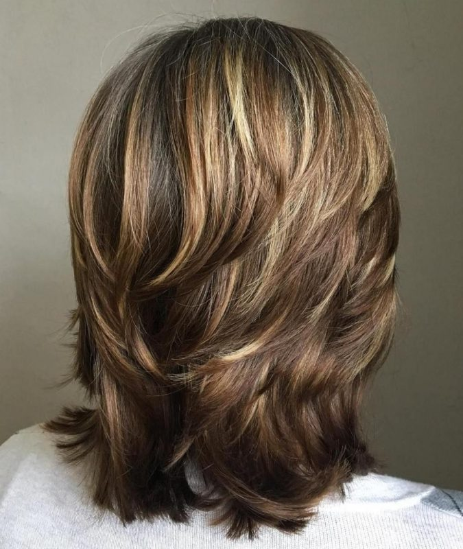 One-Length-Cut-and-Feathery-Layers-675x800 Completely Fashionable Medium Length Hairstyles