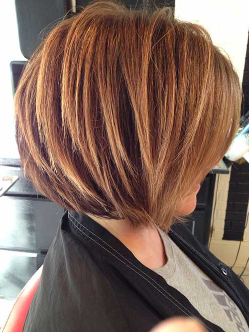 Wavy-Angled-Bob-with-Blonde-Colour-1 Completely Fashionable Medium Length Hairstyles