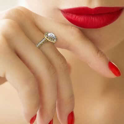 bezel-set Low Profile Engagement Rings with Bezel Set