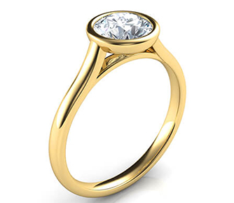 engagement-ring-solitaire Low Profile Engagement Rings with Bezel Set
