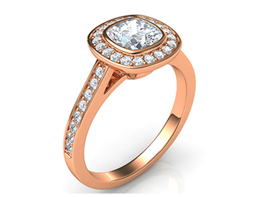 engagement-ring. Low Profile Engagement Rings with Bezel Set