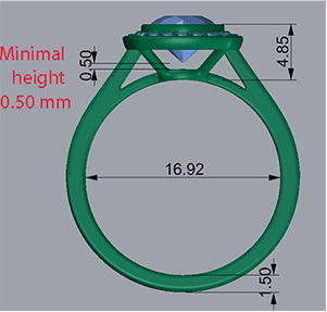 ring-height Low Profile Engagement Rings with Bezel Set