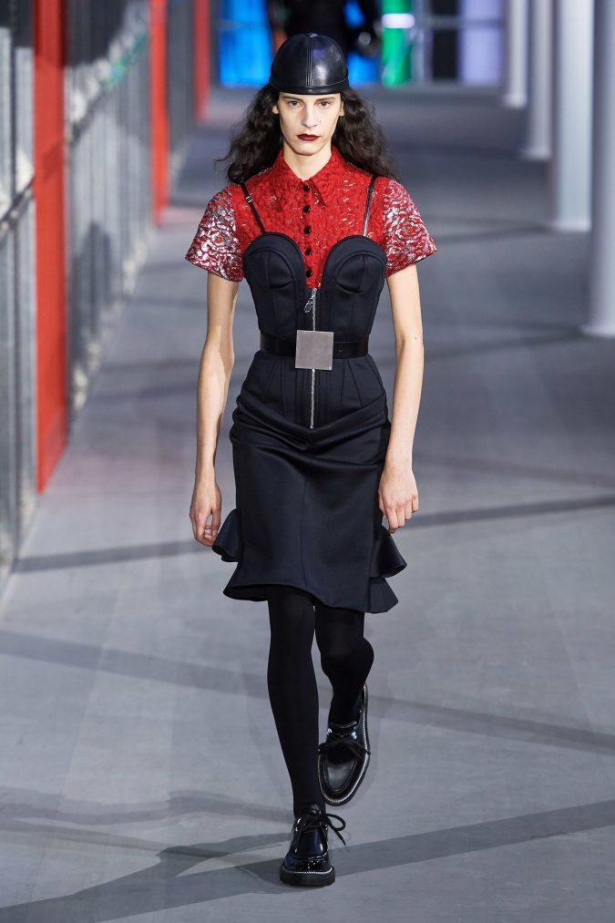 Fall-Winter-fashion-2020-camisole-dress-Louis-Vuitton-3-675x1013 60+ Retro Fashion Designs of Fall/Winter 2020 Inspired by the 80s and 90s