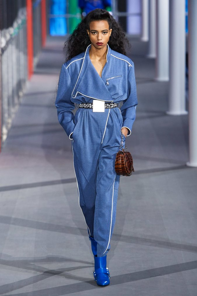 Fall-Winter-fashion-2020-jumpsuit-Louis-Vuitton-675x1013 60+ Retro Fashion Designs of Fall/Winter 2020 Inspired by the 80s and 90s