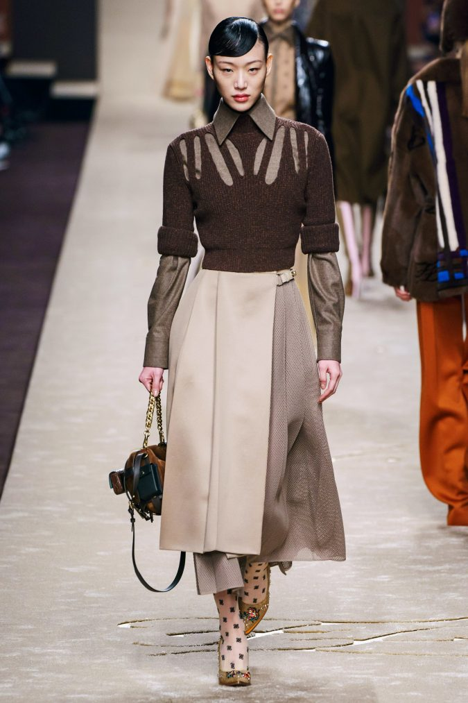 Fall-fashion-2019-a-line-dress-fendi-675x1013 10 Fall/Winter Retro Fashion Trends for the 70s Nostalgics in 2020