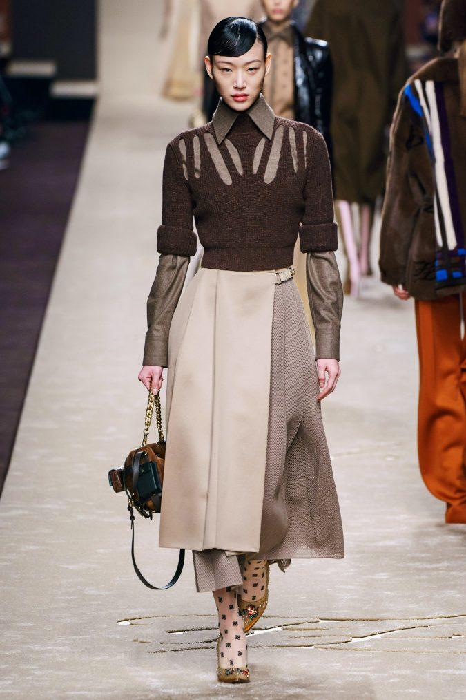 Fall-fashion-2019-a-line-dress-fendi-675x1013 10 Fall/Winter Retro Fashion Trends for the 70s Nostalgics in 2020