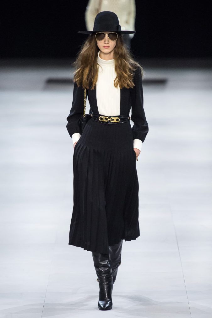 Fall-fashion-2019-pleated-skirt-celine-675x1014 10 Fall/Winter Retro Fashion Trends for the 70s Nostalgics in 2020