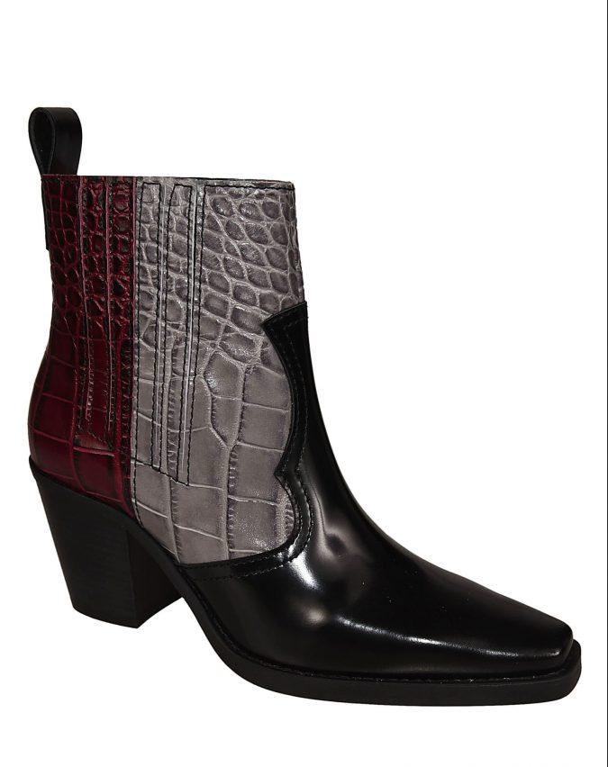 Ganni-multicolor-ankle-boots-e1572185996129-675x852 7 Designer Shoes for Women