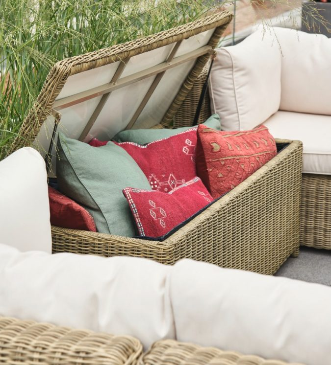 Storing-Outdoor-outdoor-furniture-Cushions-675x746 Top 7 Tips for Storing Your Summer Items During Winter