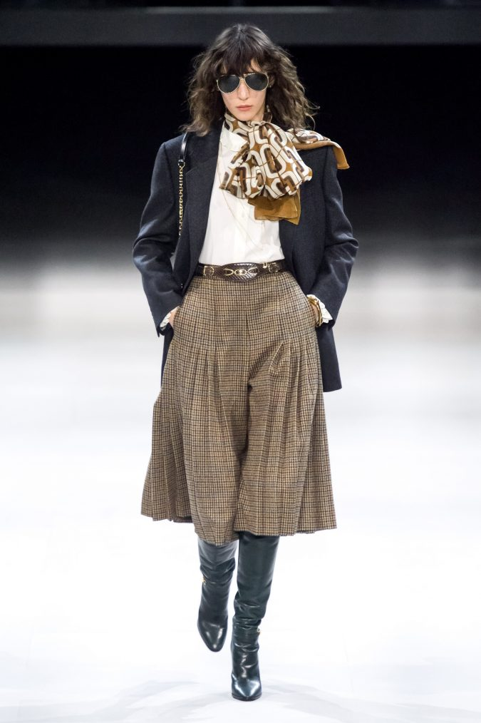 fall-fashion-2019-A-shaped-pleated-skirt-Celine-675x1014 10 Fall/Winter Retro Fashion Trends for the 70s Nostalgics in 2020