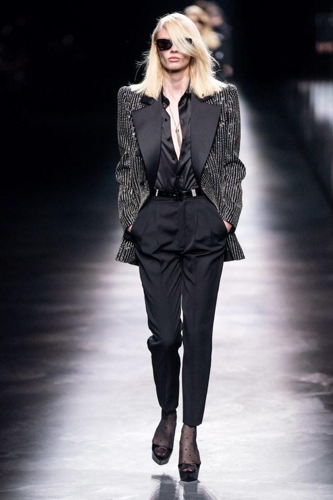 fall-fashion-2019-long-jacket-saint-laurent-2-675x1013 60+ Retro Fashion Designs of Fall/Winter 2020 Inspired by the 80s and 90s