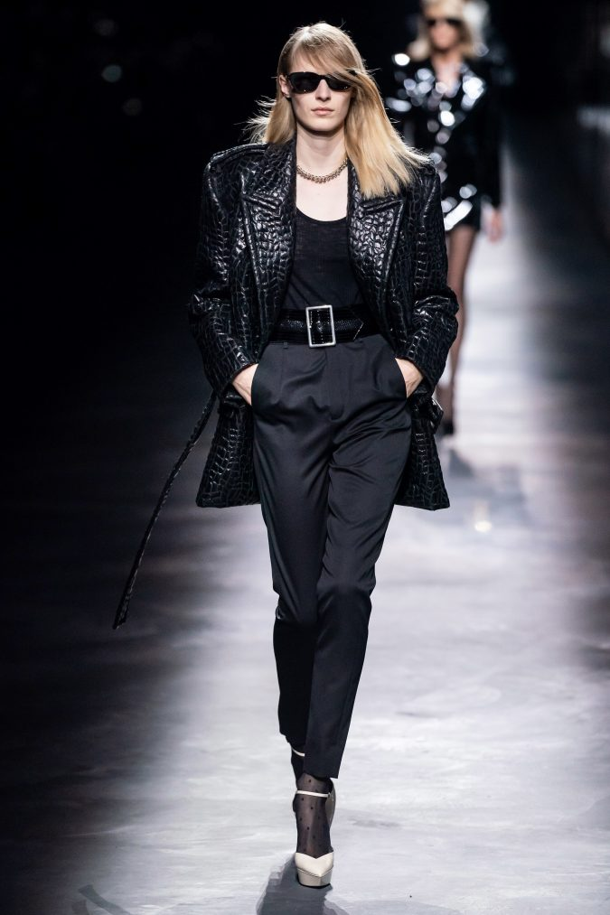 fall-fashion-2019-long-jacket-saint-laurent-675x1013 60+ Retro Fashion Designs of Fall/Winter 2020 Inspired by the 80s and 90s
