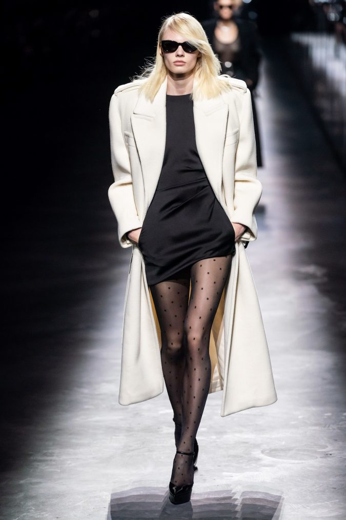 fall-fashion-2019-mini-dress-saint-laurent-675x1013 +20 Fall Fashion Trends of 2020 for the Fans of Unusual Shoulders and Sleeves