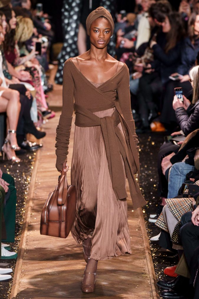 fall-fashion-2019-pleated-dress-Michael-Kors-675x1013 45+ Elegant Work Outfit Ideas for Fall and Winter 2020