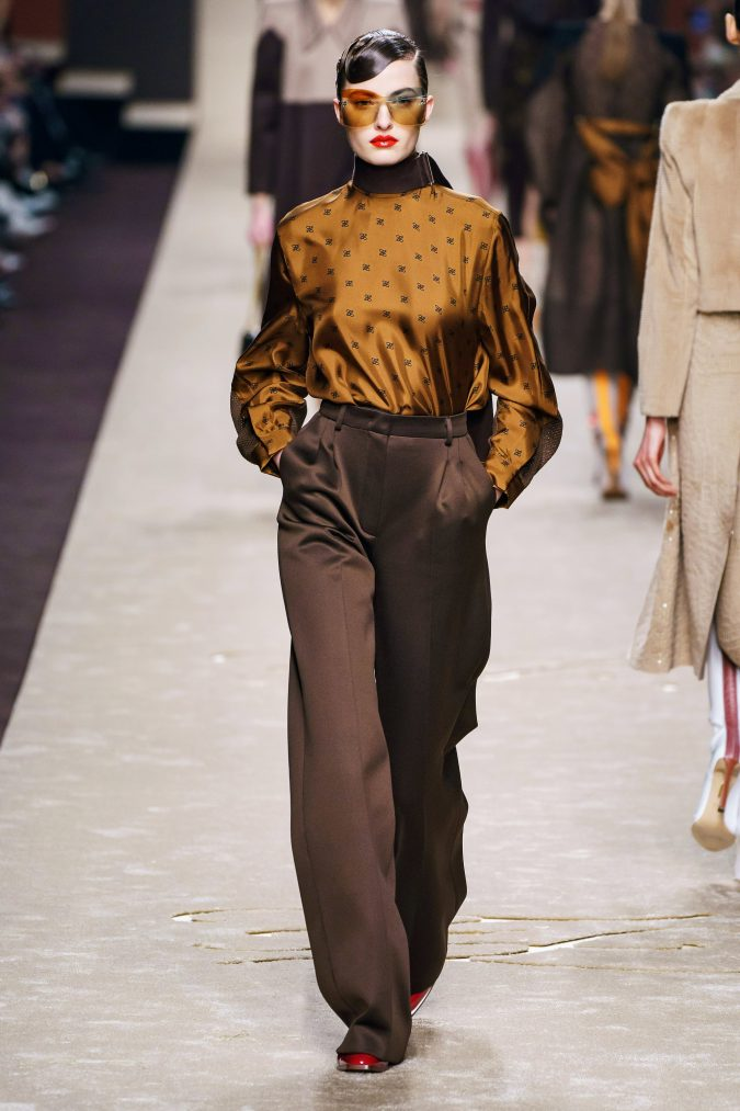 fall-fashion-2019-wide-leg-pants-Fendi-2-675x1013 10 Fall/Winter Retro Fashion Trends for the 70s Nostalgics in 2020
