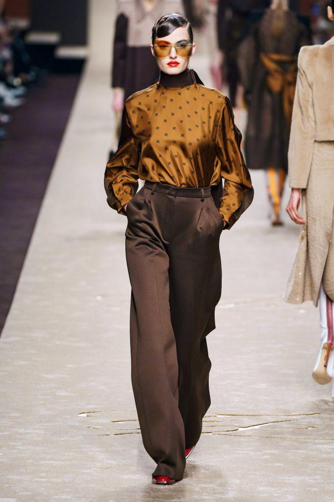 fall-fashion-2019-wide-leg-pants-Fendi-2-675x1013 10 Fall/Winter Retro Fashion Trends for the 70s Nostalgics in 2020