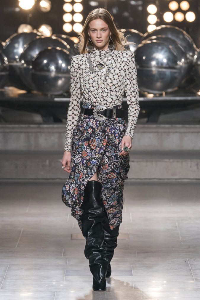 fall-winter-fashion-2020-big-shoulders-Isabel-Marant-675x1013 60+ Retro Fashion Designs of Fall/Winter 2020 Inspired by the 80s and 90s