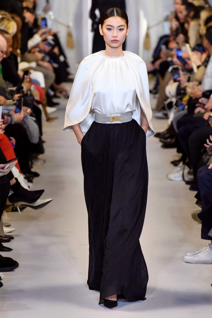 fall-winter-fashion-2020-cape-sleeves-Brandon-Maxwell-675x1013 +20 Fall Fashion Trends of 2020 for the Fans of Unusual Shoulders and Sleeves